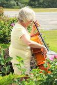 ženské violoncellista. — Stock fotografie