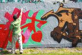 Graffiti spray painter. — Stock Photo