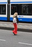 Tramvay binici. — Stok fotoğraf