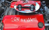Red corvette. — Stock Photo