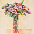Stock Photo: Bouquet of flowers, watercolour painting