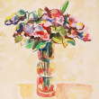 Bouquet of flowers, watercolour painting — Stock Photo