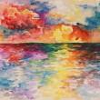 Sea watercolour painting — Stock Photo