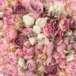 Wedding bouquet with rose bush, Ranunculus — Stock Photo