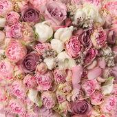Boeket met rozenstruik, bruiloft boterbloem — Stockfoto
