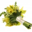 Green orchid wedding bouquet — Stock Photo