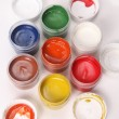 Stock Photo: Multicolored gouache
