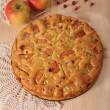 Apple pie with apple and cranberry — Stock Photo