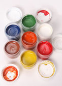 Multicolored gouache — Stock Photo