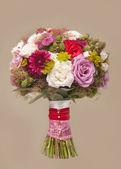 Wedding bouquet with rose bush — Stock Photo