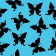 Black butterfly vector seamless texture — Stock Vector