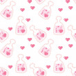 Seamless love potion texture — Stock Vector