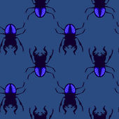 Stag beetle seamless pattern — Stock Vector