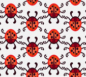 Ladybug seamless pattern — Stock Vector