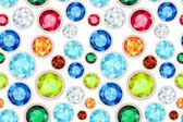 彩色的宝石饱和的颜色无缝模式 — Διανυσματικό Αρχείο