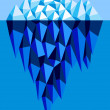 Stock Vector: Iceberg