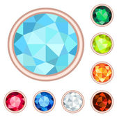 Gemstone set — Stockvector