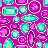 Gemstone seamless pattern — Stock Vector