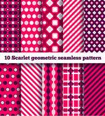 Set of ten geometric pattern — Stock Vector