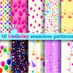 Ten birthday seamless pattern. EPS10 — Stock Vector #44296923