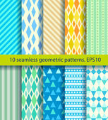 Ten seamless pattern. EPS10, no gradients — Stock Vector
