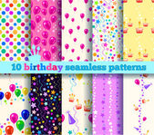 Ten birthday seamless pattern. EPS10 — Stock Vector