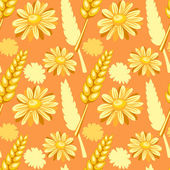 Summer field seamless pattern — Stock Vector