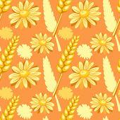 夏のシームレスなパターンのフィールド — ストックベクタ