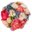 Wedding bouquet with roses and peony — Stock Photo #47280235