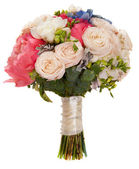 Wedding bouquet with roses and peony — Stock Photo