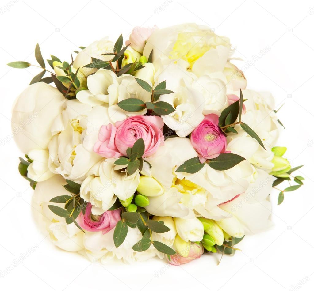 pivoine blanche avec bouquet de mari e rose renoncule angle lev de photographie julieboro. Black Bedroom Furniture Sets. Home Design Ideas