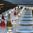 Stock Photo: Table setting for outdoor party
