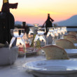 Table setting for outdoor party — Stock Photo #12488313