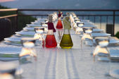 Table setting for outdoor party — Stock Photo