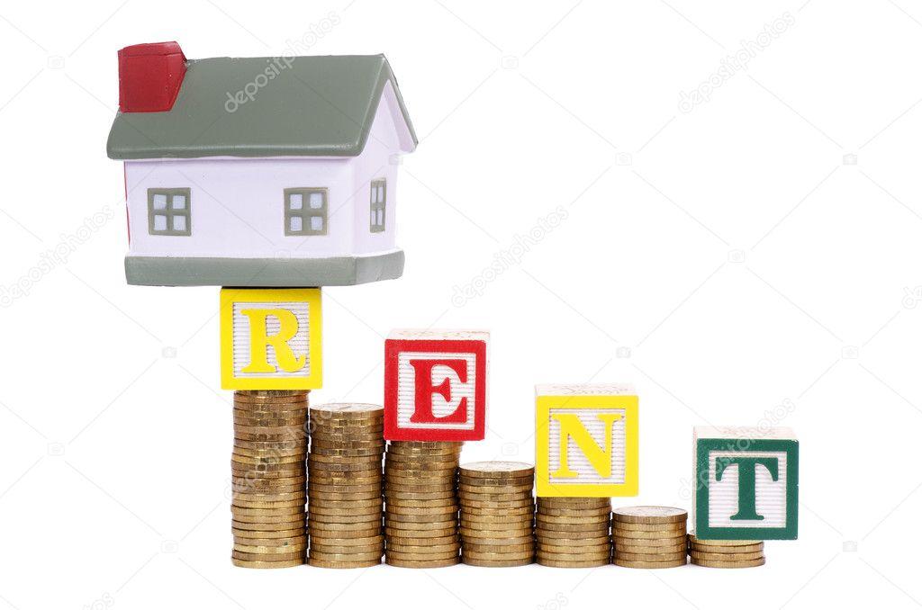 Дом и монеты в виде схемы