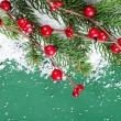 Christmas and New Year Border — Stockfoto