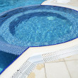 Swimming pool at hotel close up — Stock Photo