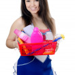 Portrait of the girl - concept Cleaning — Stock Photo #13808553
