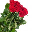 Stock Photo: Bouquet of red roses isolated