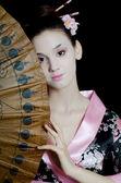 Dziewczyna z makijaż japońskiej — Zdjęcie stockowe