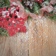 Christmas decorative border — Foto Stock