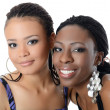 Stock Photo: The black and mulatto girls