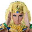 The girl-dancer in a costume of the Pharaoh - Stock Photo