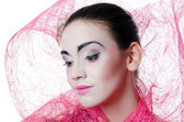 The beautiful girl with a make-up of the Japanese — Stock Photo