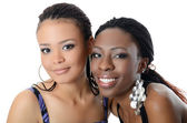 The black and mulatto girls — Stock Photo
