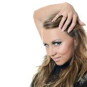Portrait of girl - Creative make-up — Stock Photo