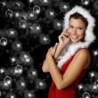 Beautiful Christmas girl — Stock Photo