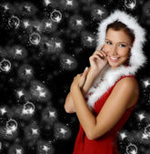 Beautiful Christmas girl — Stock Photo