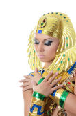 El chica-bailarín disfrazado del faraón — Foto de Stock