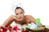 Spa beautiful Woman — Stock Photo